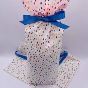 Emballage Cadeau Tissu Gouttes